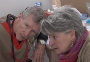 Dr. Ed Fannon with Joyce Kester RN